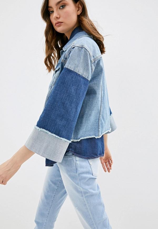 женская джинсовые куртка twinset milano, синяя
