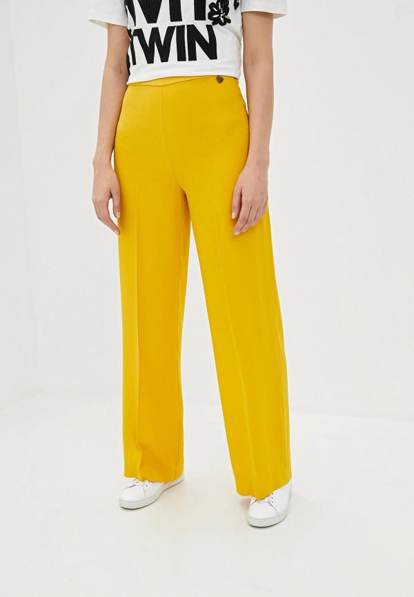 женские повседневные брюки twinset milano, желтые