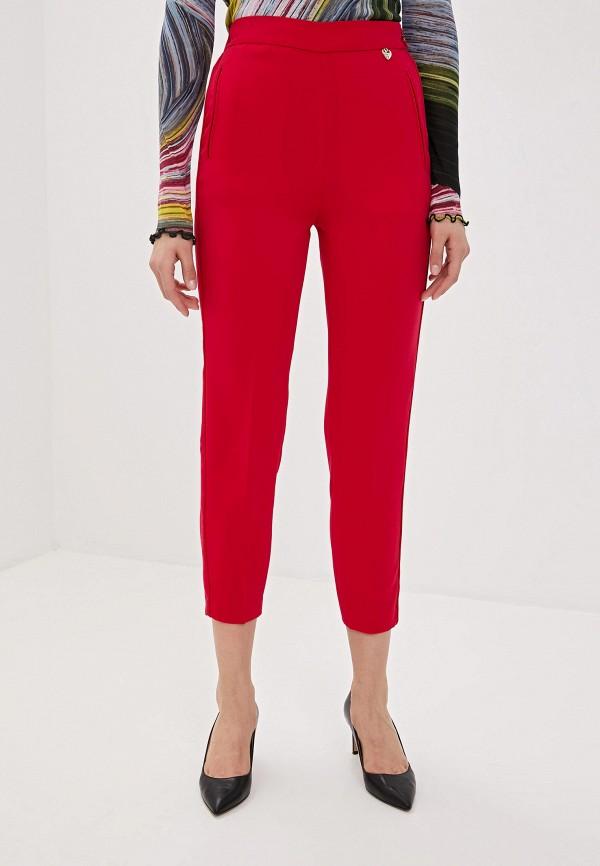 женские повседневные брюки twinset milano, розовые