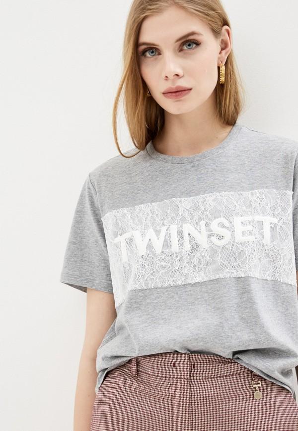 Футболка Twinset Milano Twinset Milano TW008EWHJVL2 футболка twinset milano twinset milano tw008ewehup9
