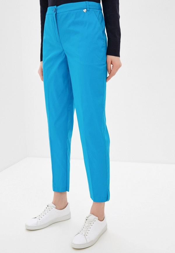 женские повседневные брюки twinset milano, бирюзовые