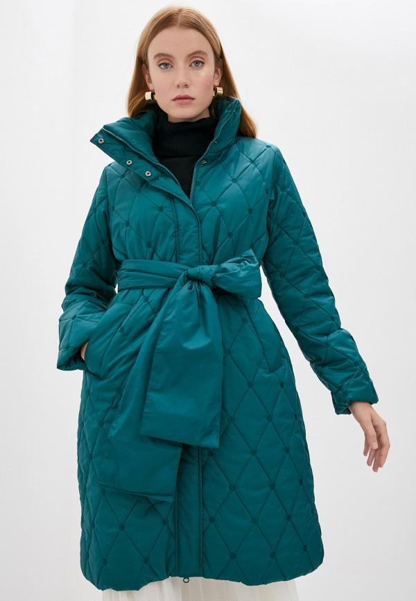 женская куртка twinset milano, зеленая