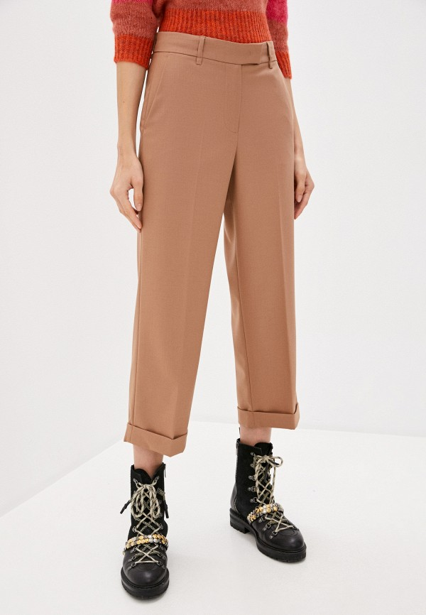 женские повседневные брюки twinset milano, коричневые