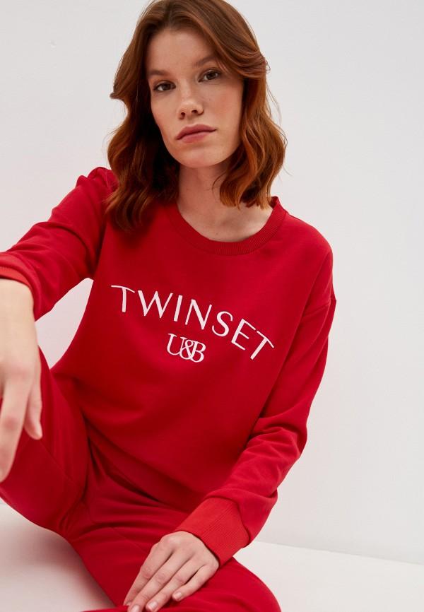 женский свитшот twinset milano, красный