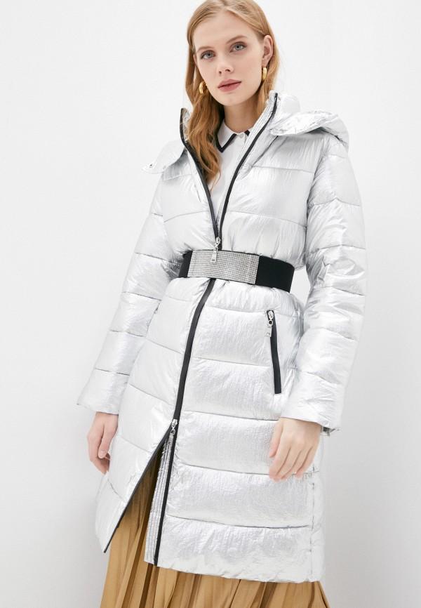 женская куртка twinset milano, серебряная