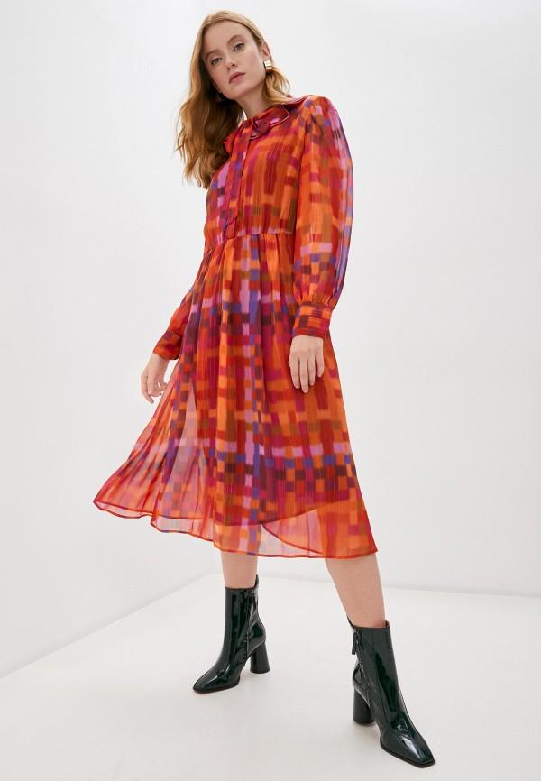 женское платье twinset milano, бордовое