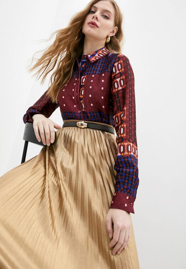 женская блузка twinset milano, бордовая