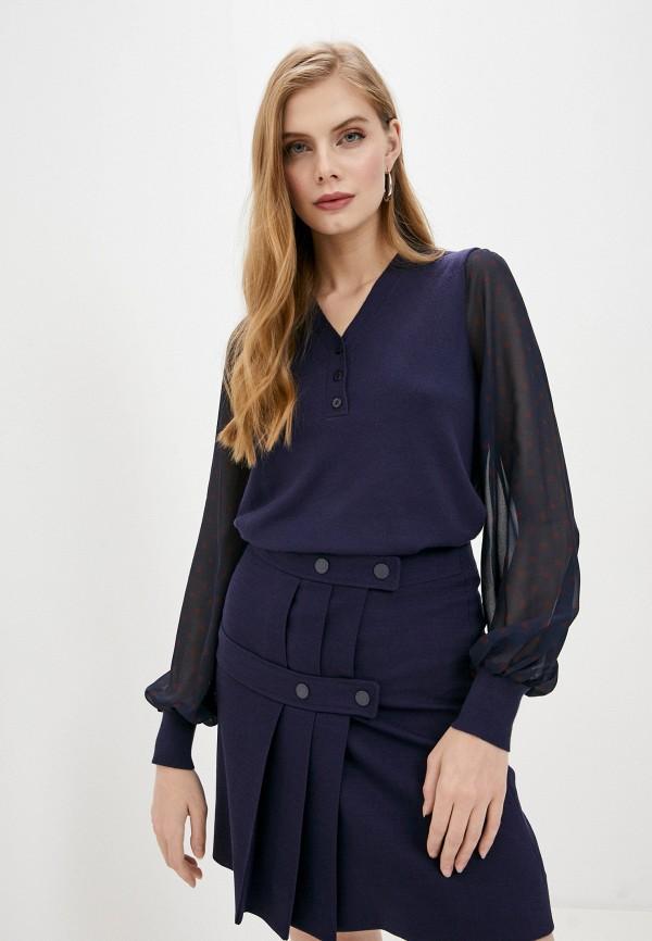 женский пуловер twinset milano, синий