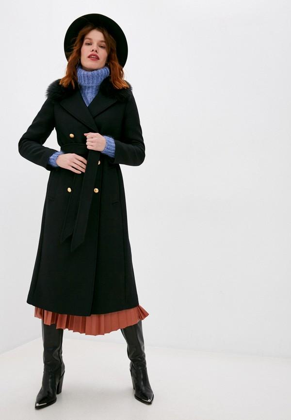 женское пальто twinset milano, черное