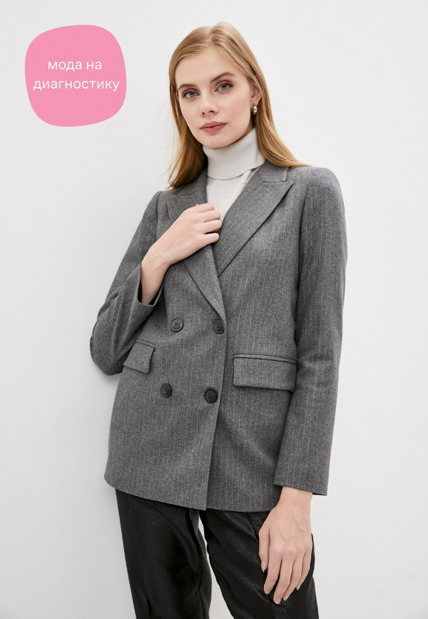 женский пиджак twinset milano, серый