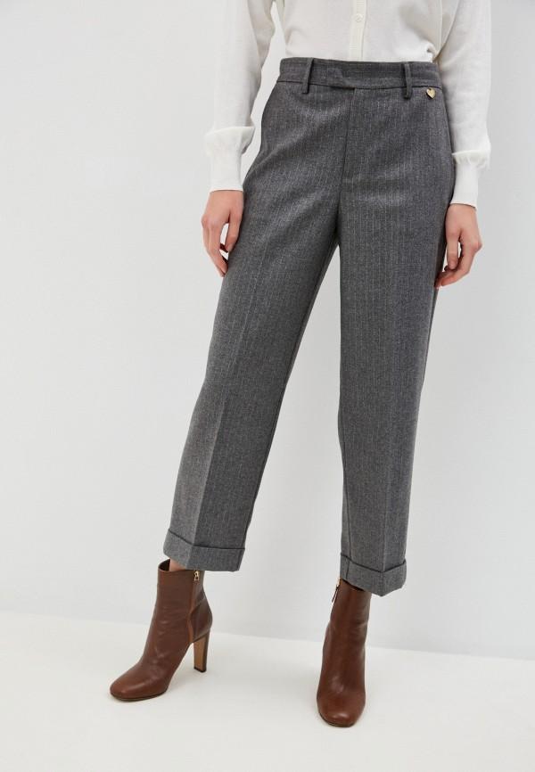 женские классические брюки twinset milano, серые