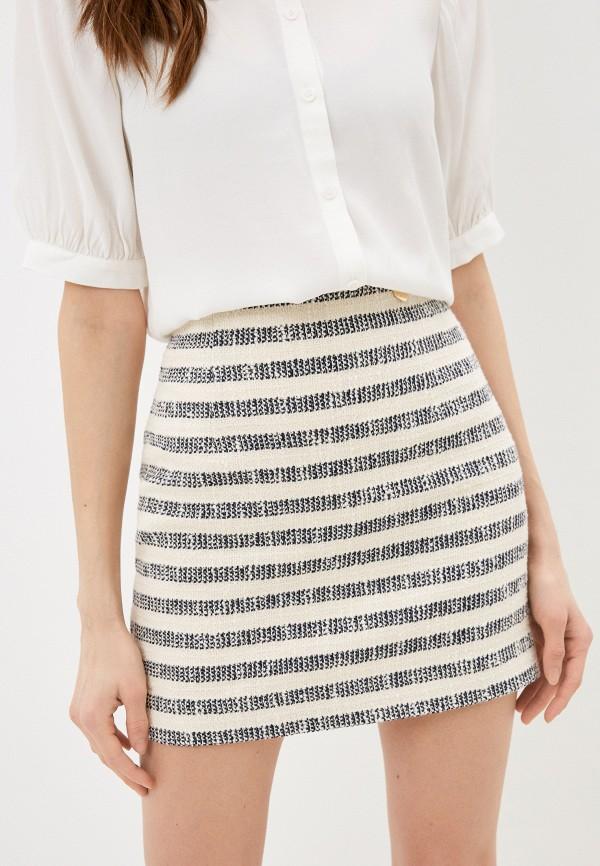 женская прямые юбка twinset milano, разноцветная