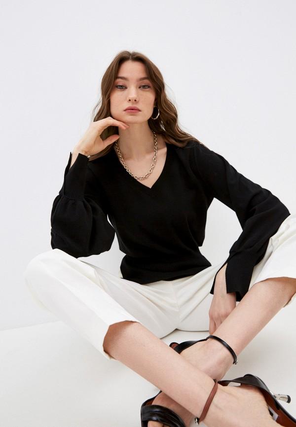женский пуловер twinset milano, черный