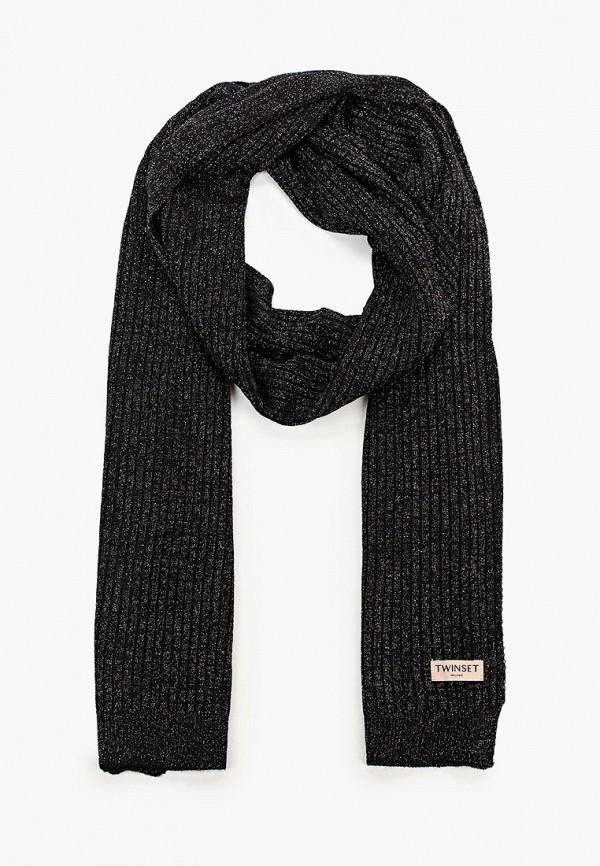 женский шарф twinset milano, черный
