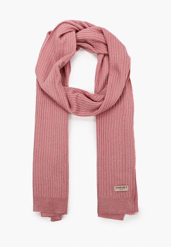 женский шарф twinset milano, розовый