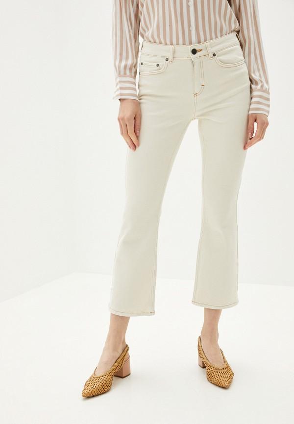 женские джинсы клеш twist & tango, белые