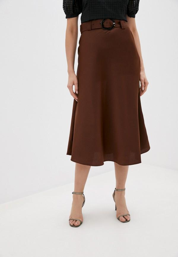 женская юбка twist & tango, коричневая