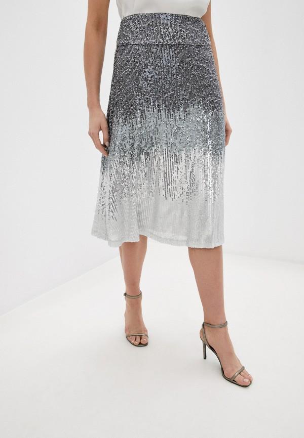 женская юбка twist & tango, серебряная