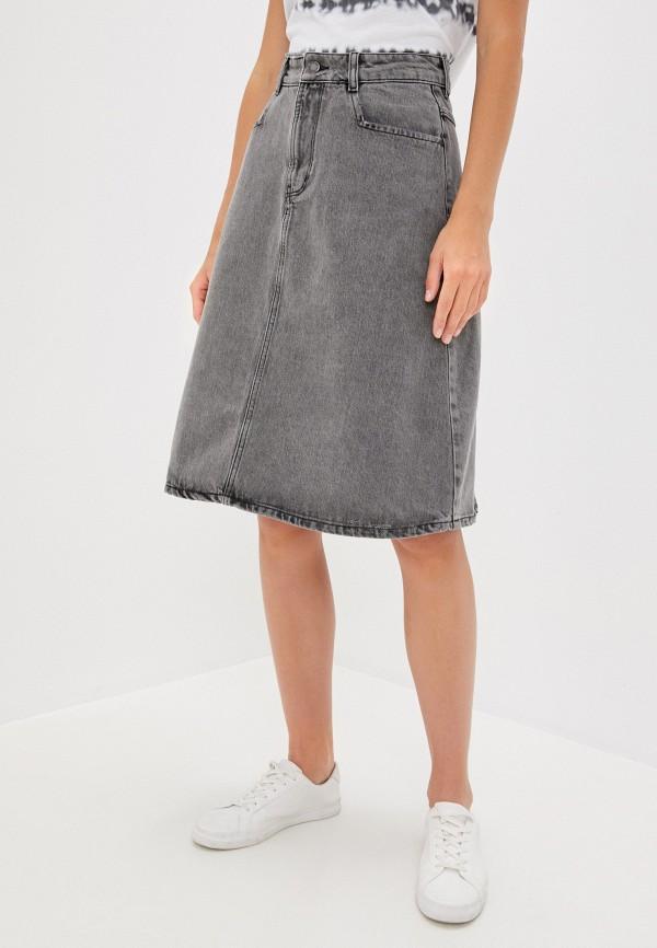 женская джинсовые юбка twist & tango, серая