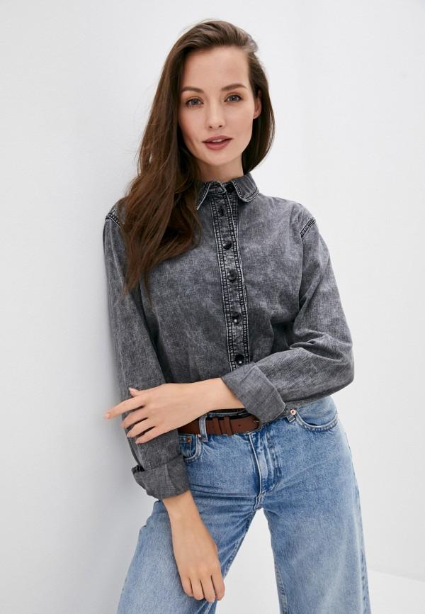 женская джинсовые рубашка twist & tango, серая