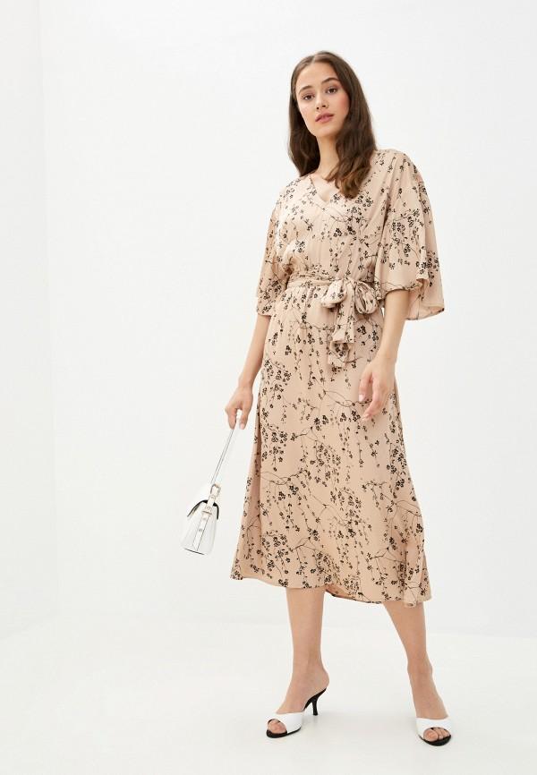 женское повседневные платье twist & tango, бежевое