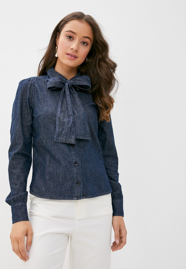 женская джинсовые рубашка twist & tango, синяя