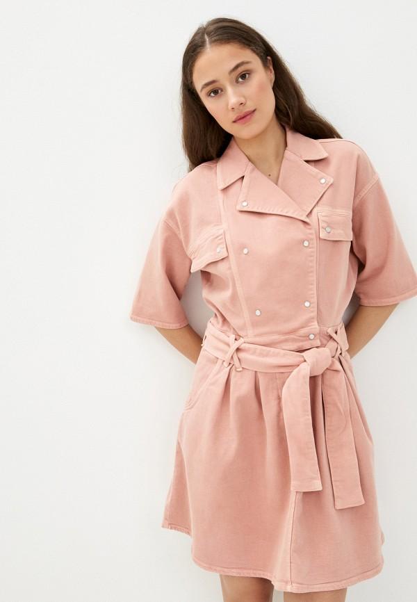 женское джинсовые платье twist & tango, розовое