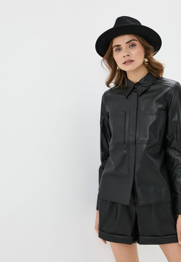 женская рубашка с длинным рукавом twist & tango, черная