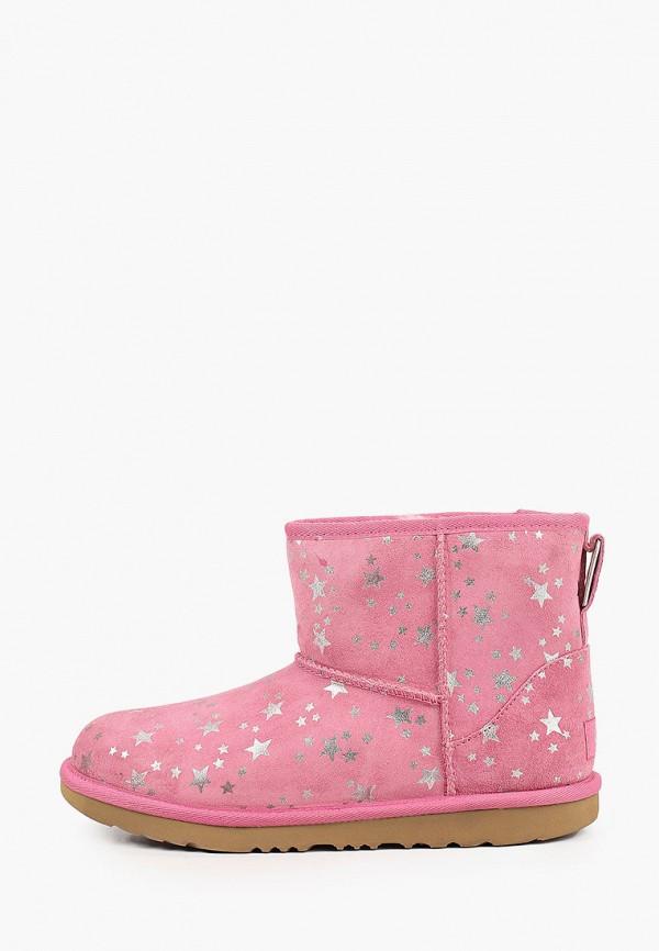 угги ugg для девочки, розовые