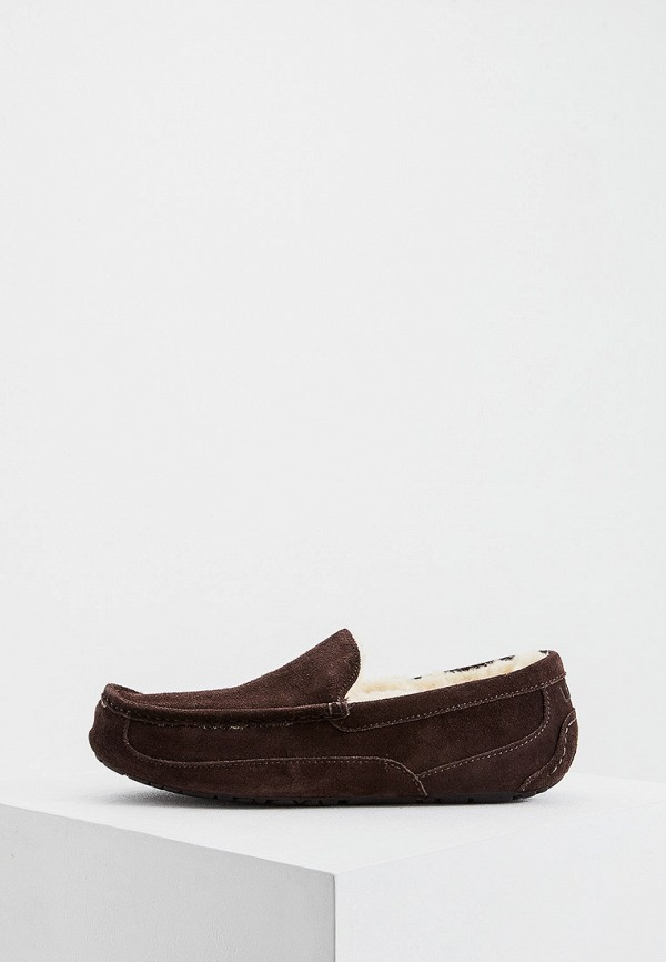 мужские мокасины ugg, коричневые