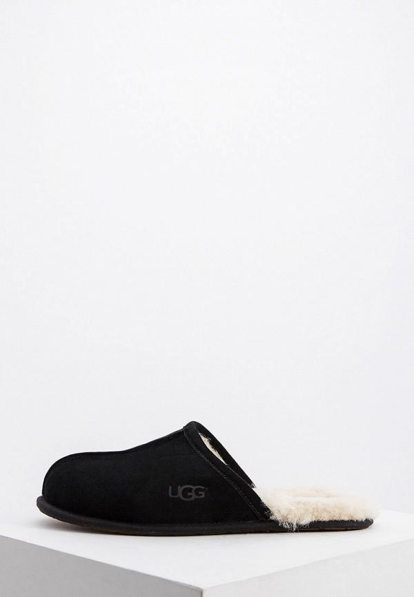 мужские тапочки ugg, черные