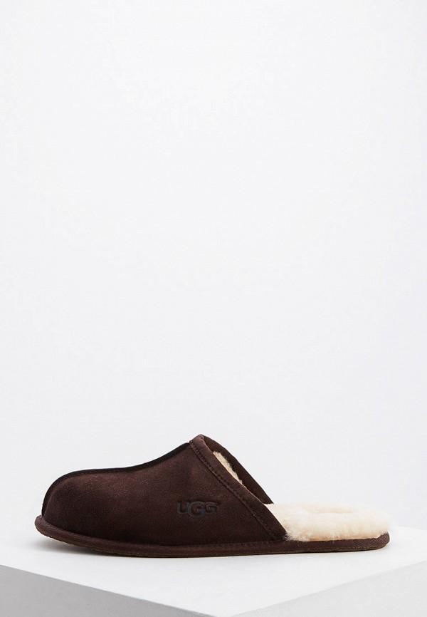 мужские тапочки ugg, коричневые