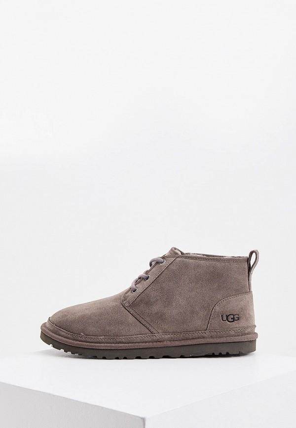мужские ботинки ugg, серые