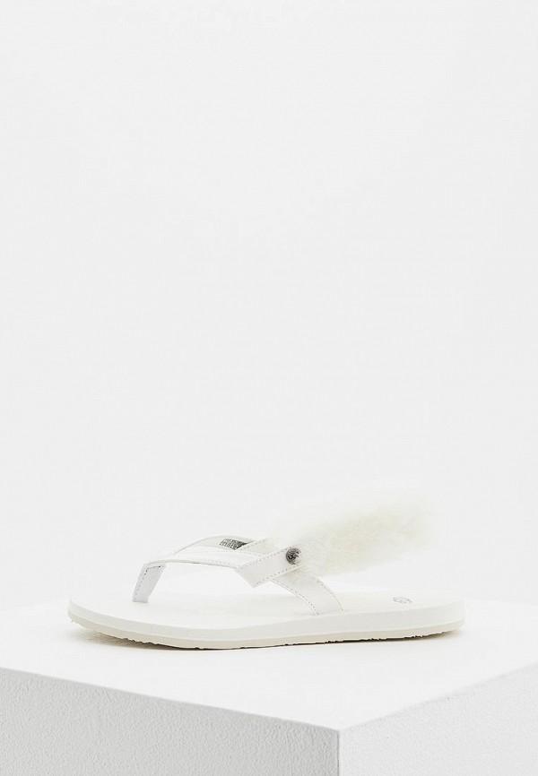 женские сандалии ugg, белые