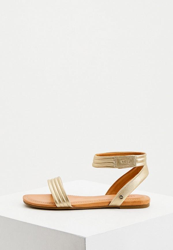 женские сандалии ugg, золотые