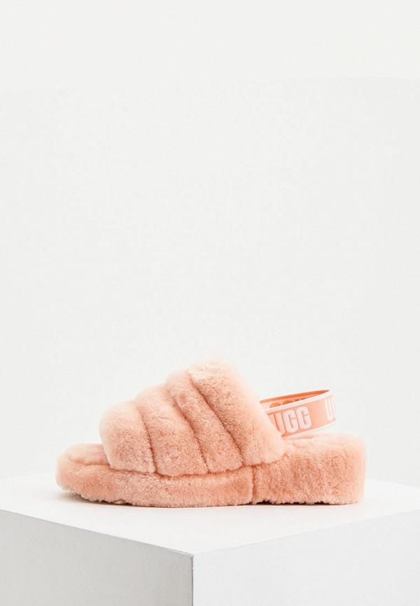 женские сандалии ugg, розовые