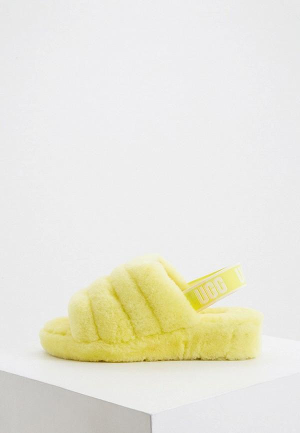 женские сандалии ugg, желтые