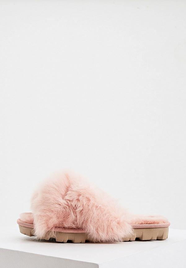 женские тапочки ugg, розовые