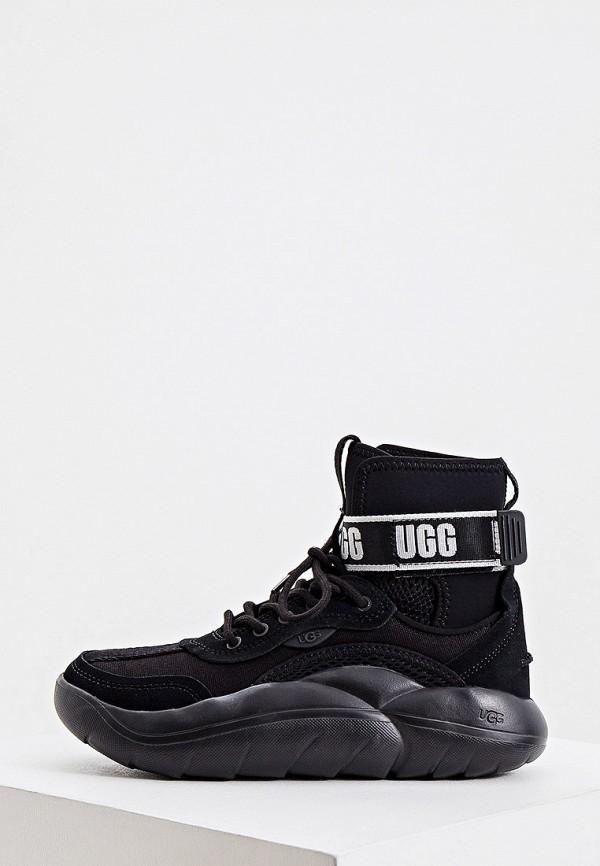 женские высокие кроссовки ugg, черные
