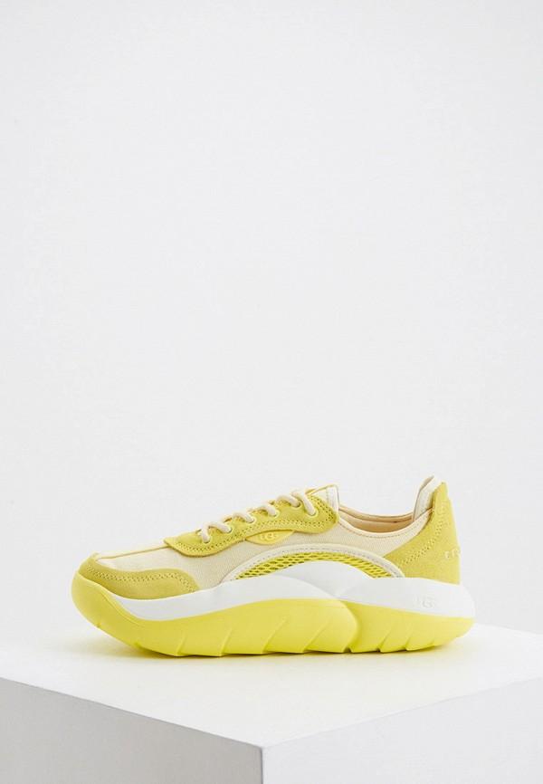 женские низкие кроссовки ugg, желтые