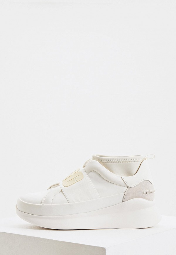 женские низкие кроссовки ugg, белые