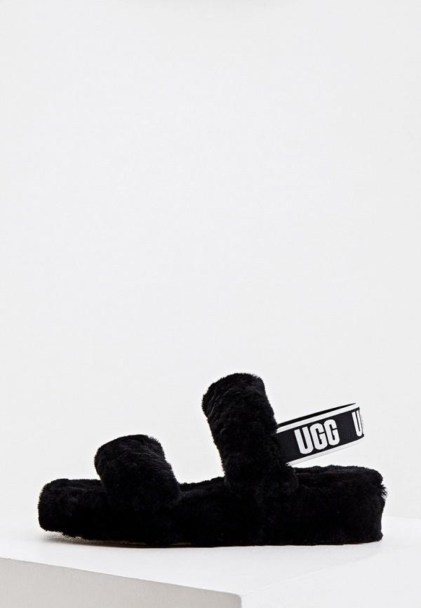 женские сандалии ugg, черные