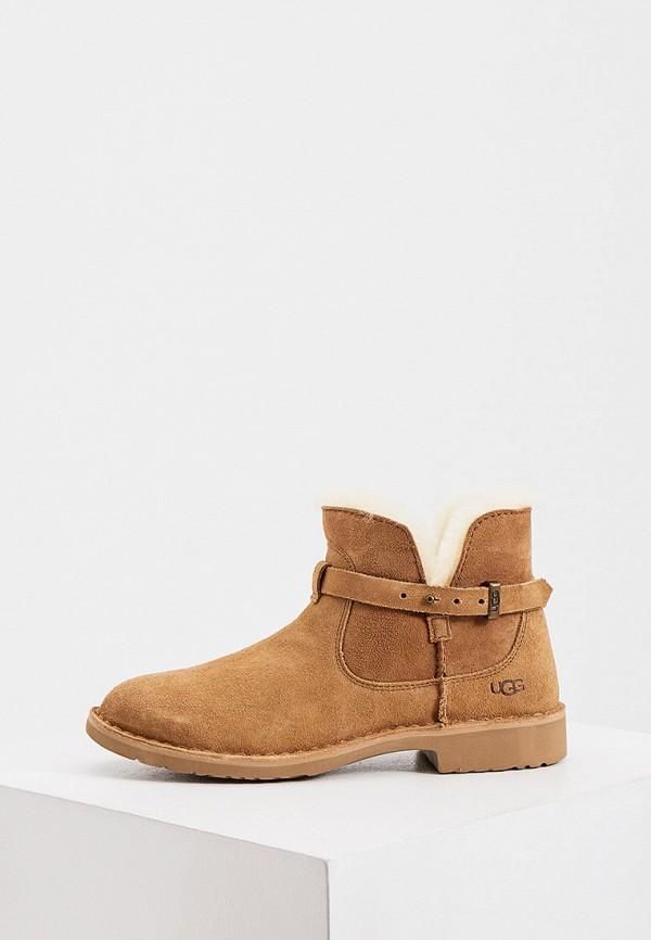 женские ботинки ugg, коричневые