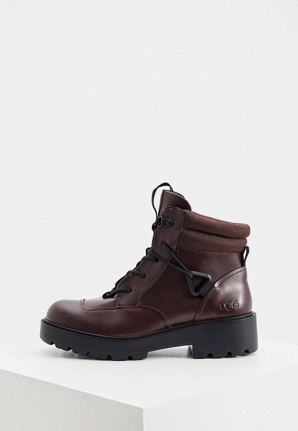 женские ботинки ugg, бордовые
