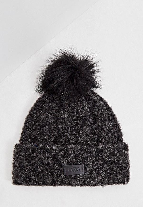 женская шапка ugg, черная