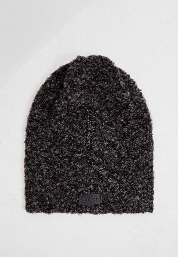 женская шапка ugg, серая