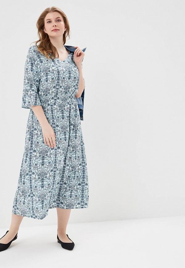 Купить женское летнее платье Ulla Popken бирюзового цвета