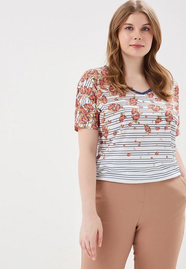 Купить женскую футболку Ulla Popken белого цвета
