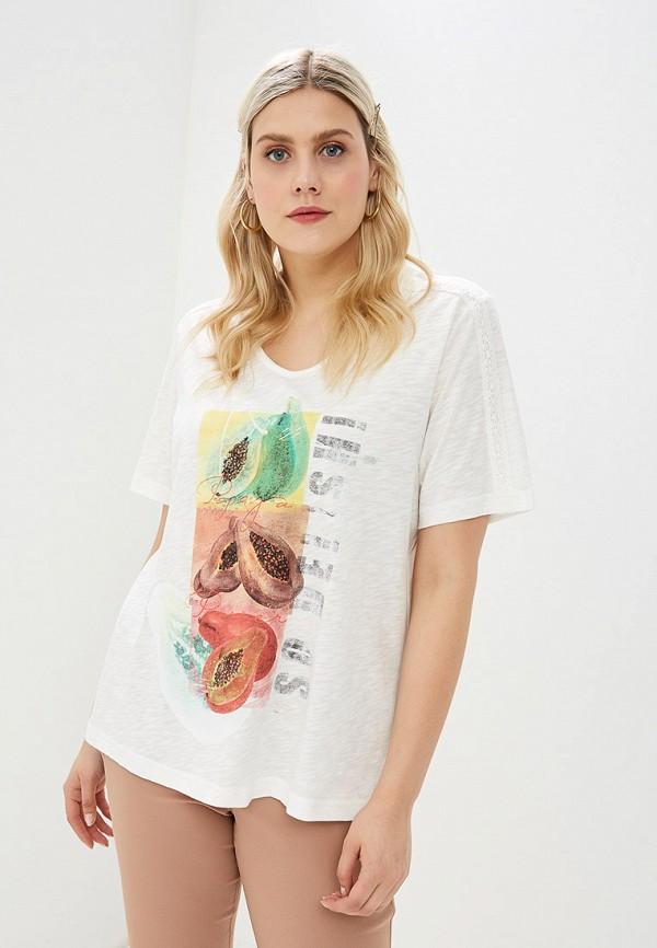 женская футболка ulla popken, белая