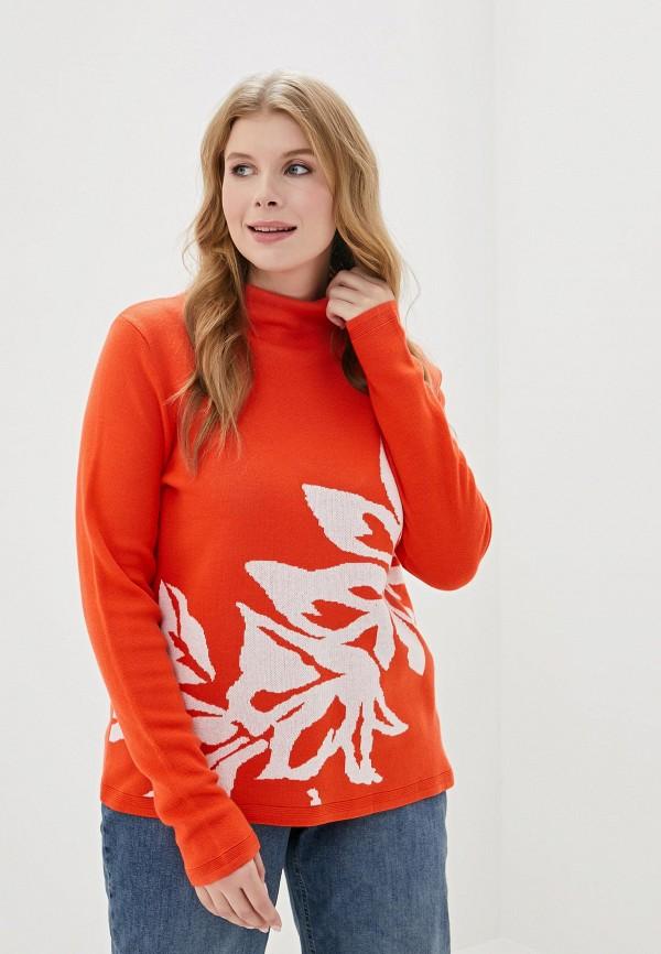 женский свитер ulla popken, оранжевый